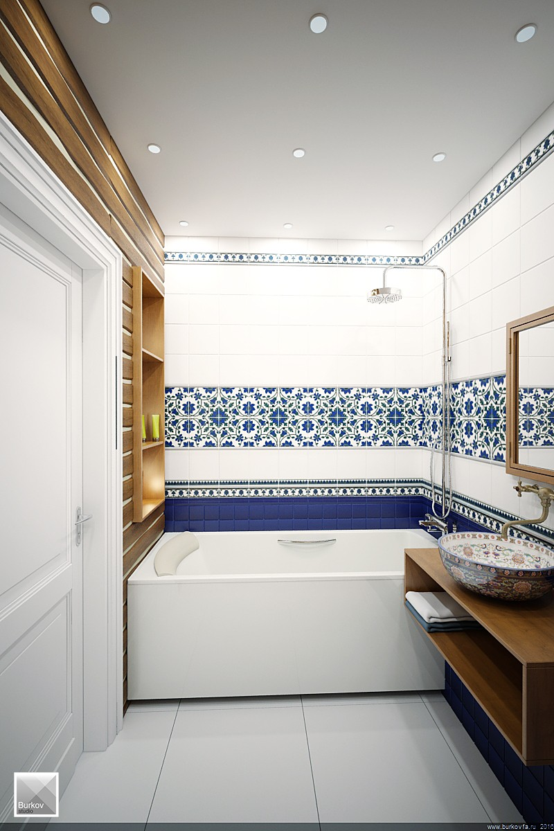 Ванная комната в кантри стиле