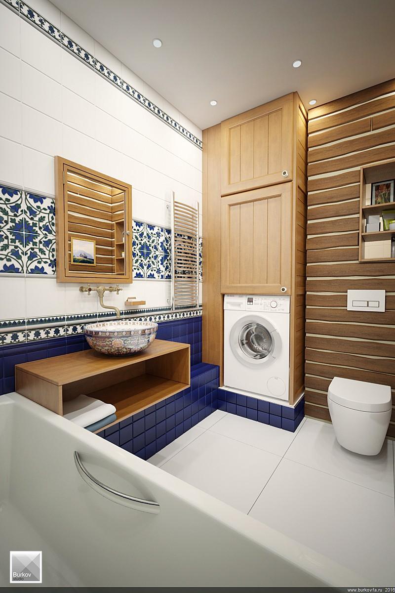 Раковина для интерьера ванной комнаты в кантри стиле