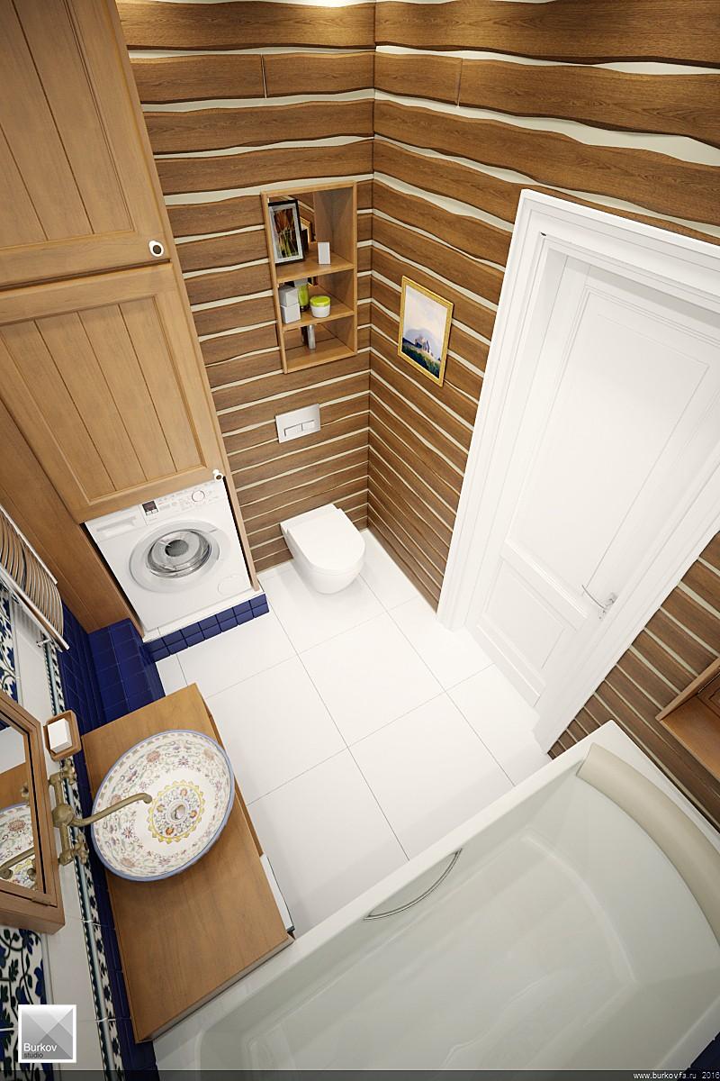 дизайн-проект ванной в кантри стиле