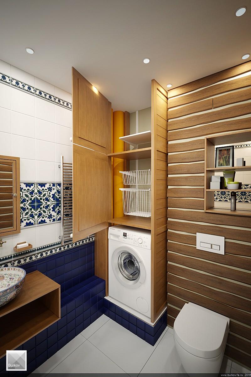 Встроенный шкаф для ванны