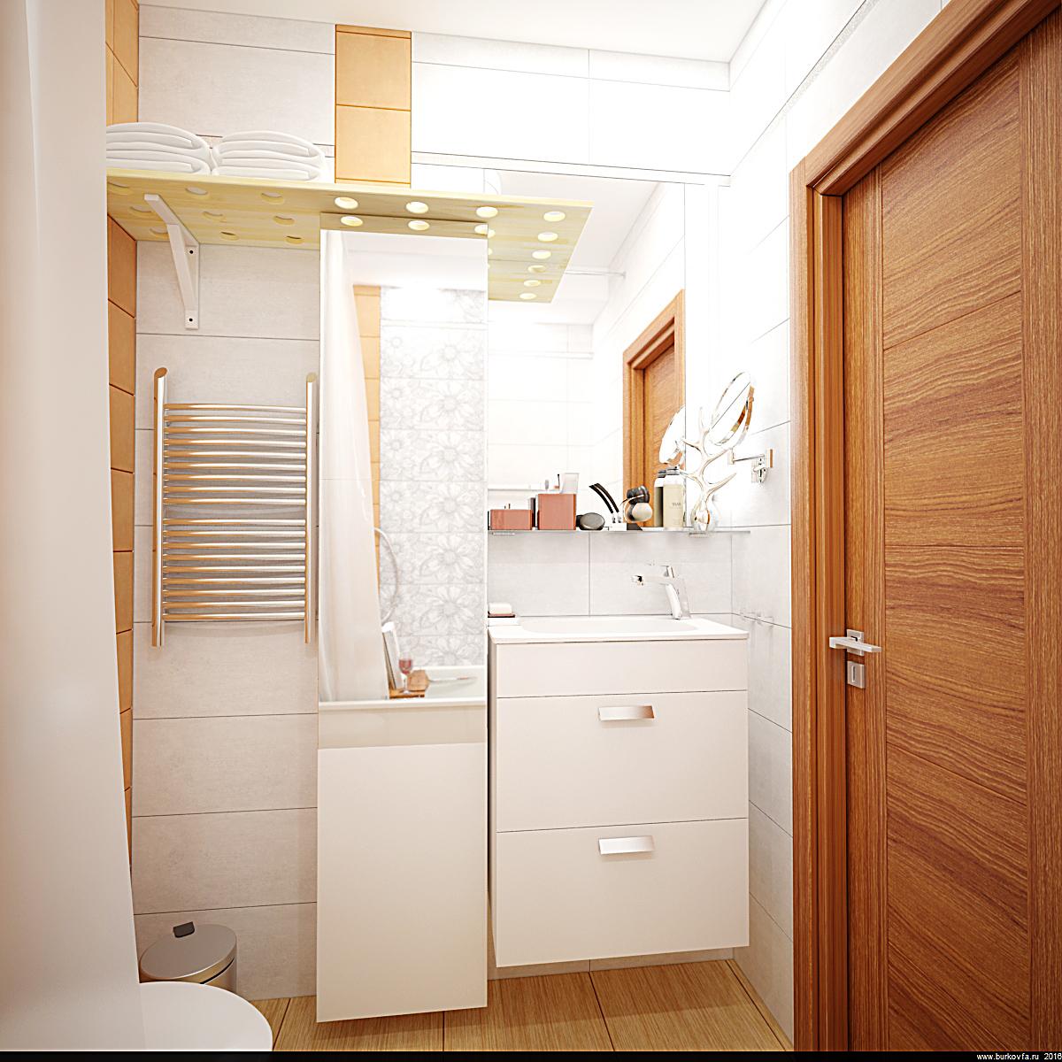 бюджетный интерьер ванной комнаты