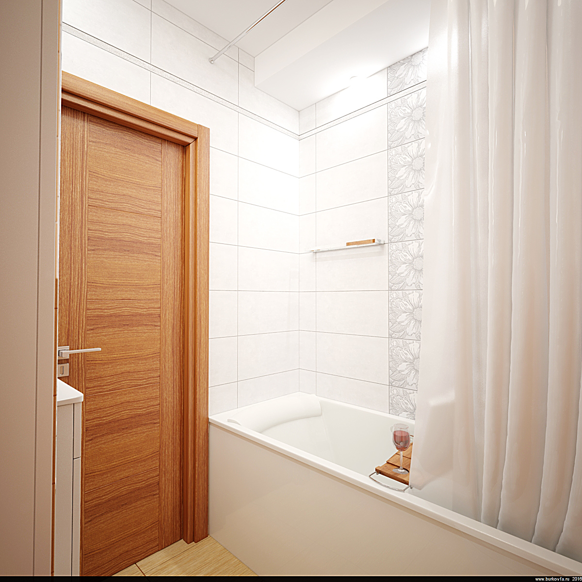 бюджетный интерьер ванны