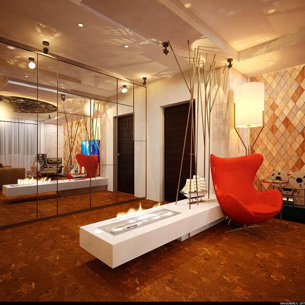 дизайн комнаты отдыха с гардеробной