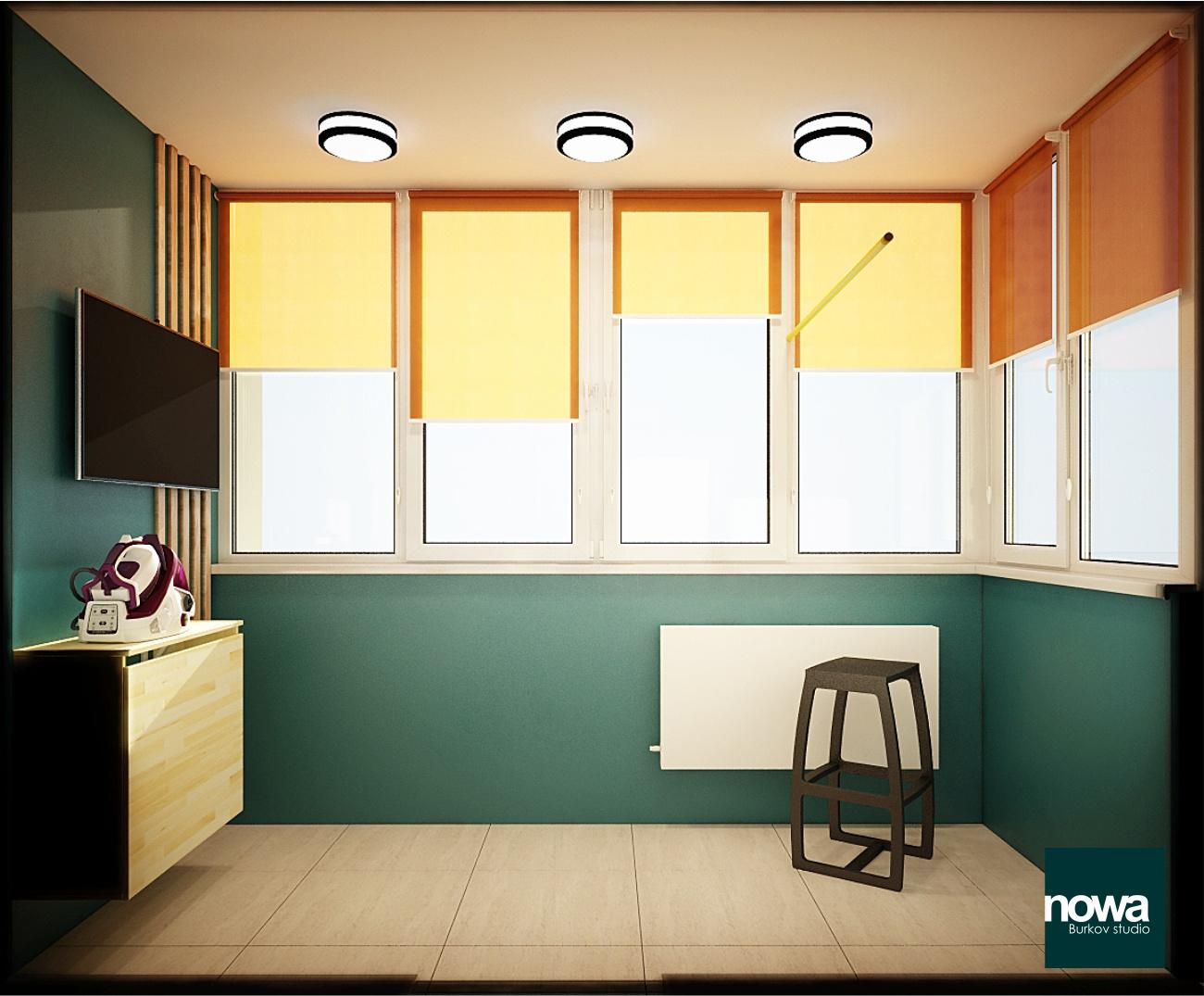 гладильная комната на балконе
