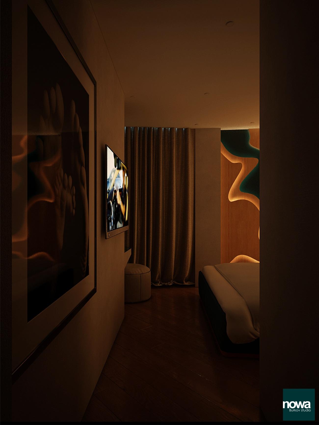 дизайн спальни. подсветка интерьера