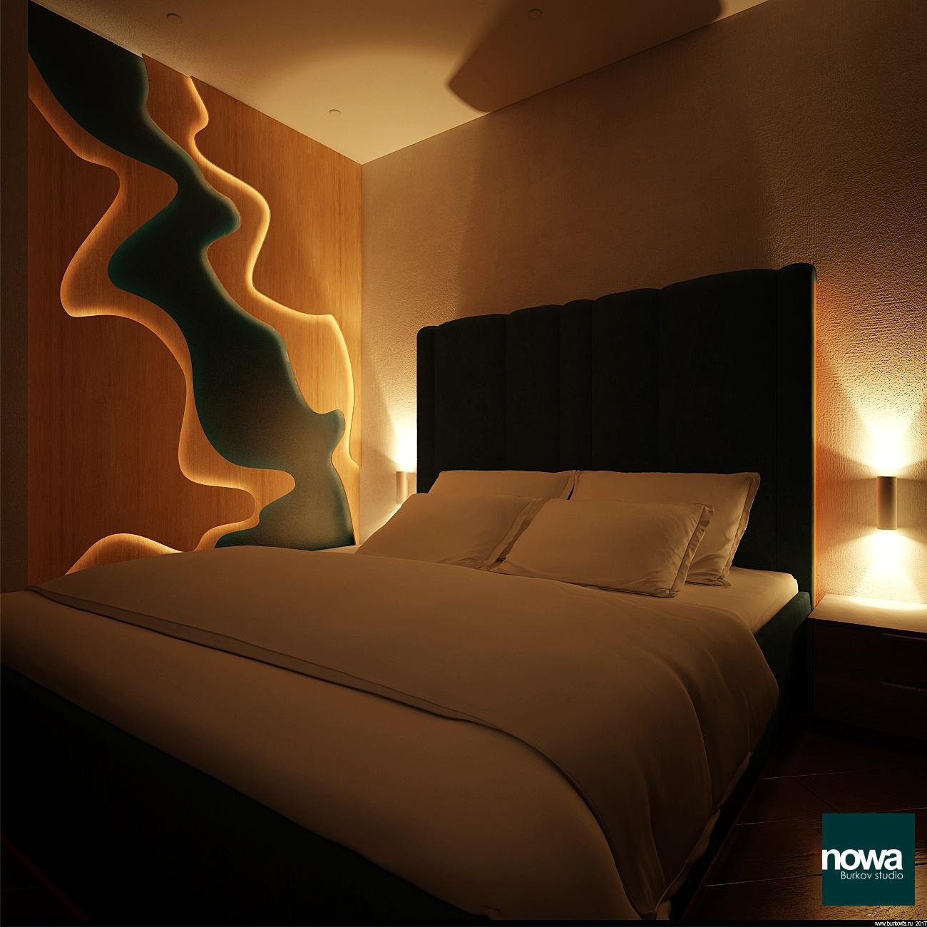 панно для спальни с подсветкой