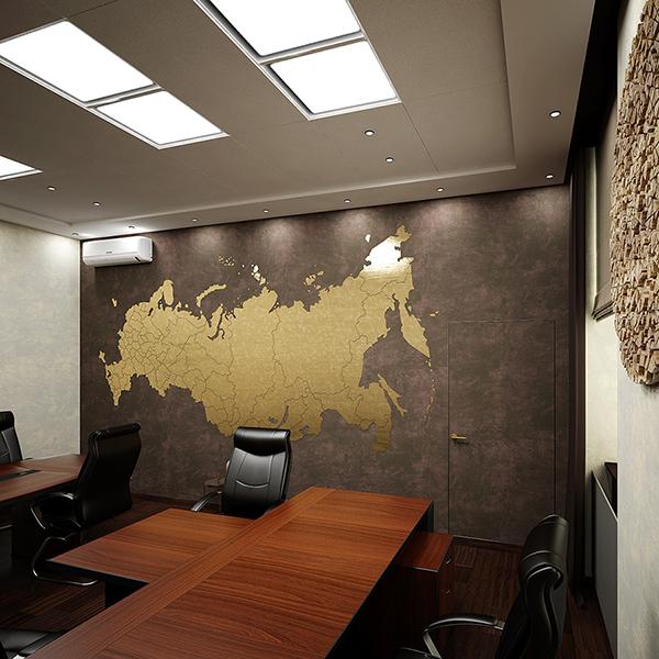 Дизайн интерьера кабинета с комнатой отдыха