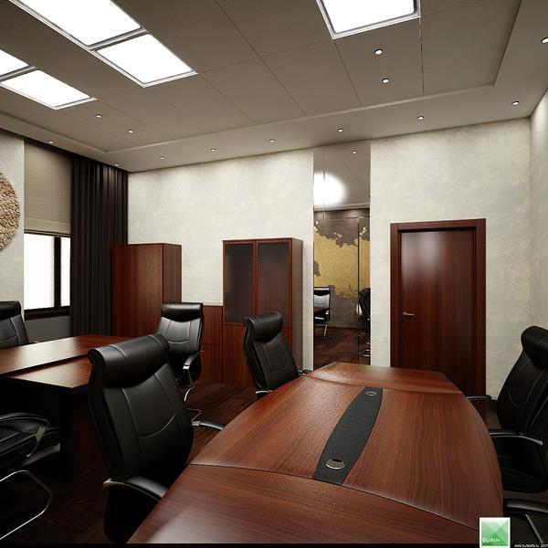проект интерьера кабинета