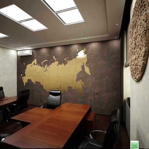 панно карта россии для кабинета