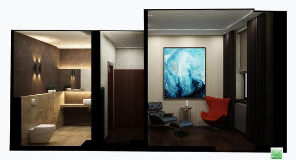 дизайн компановка комнаты отдыха