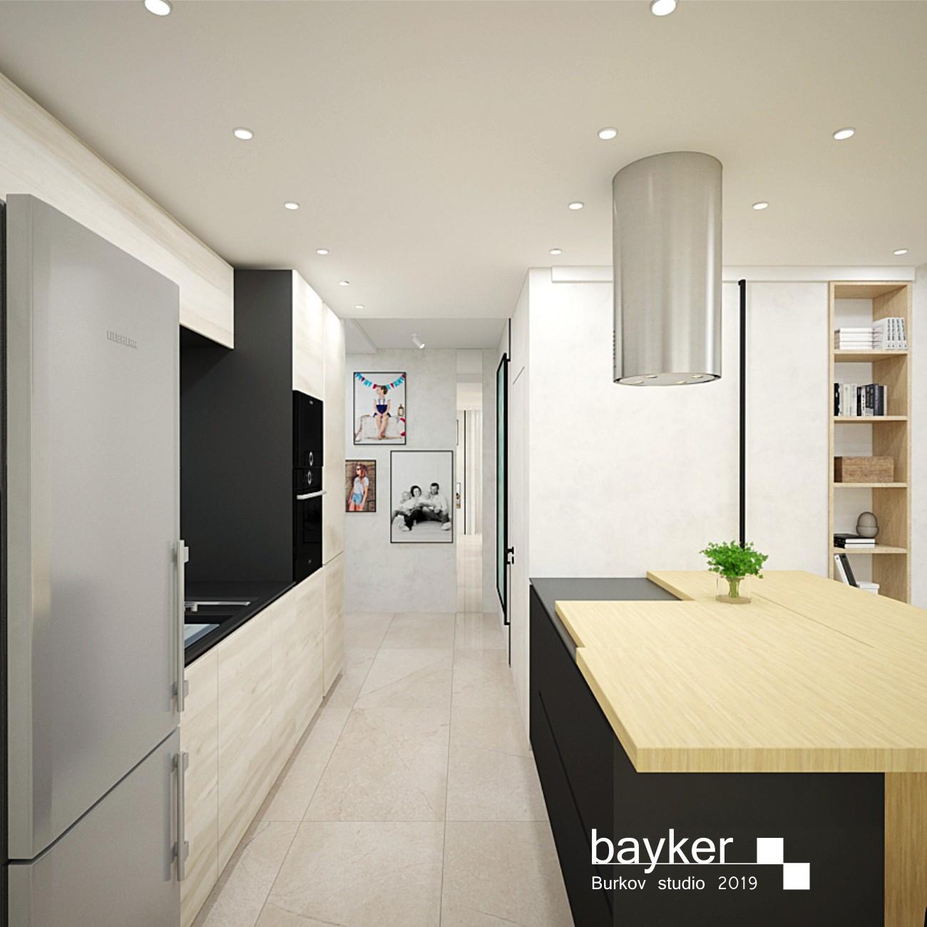 встроенная паралельная кухня