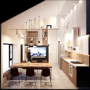 интерьер дома с баней