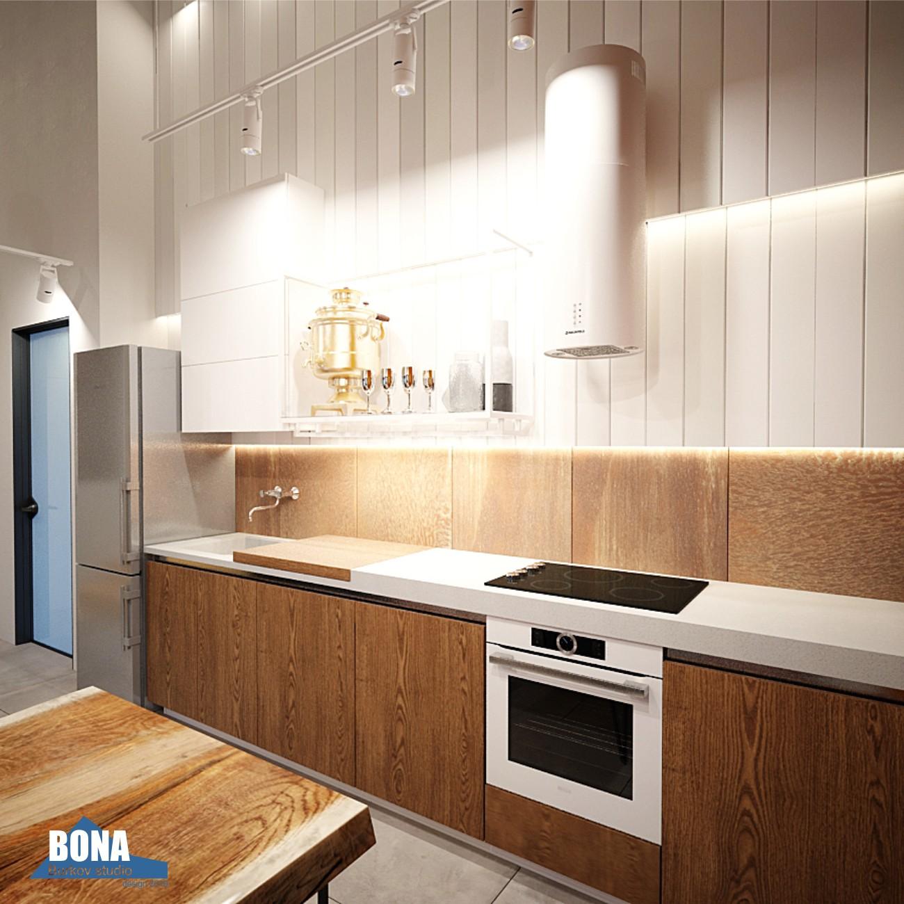 гарнитур кухни в гостевом доме