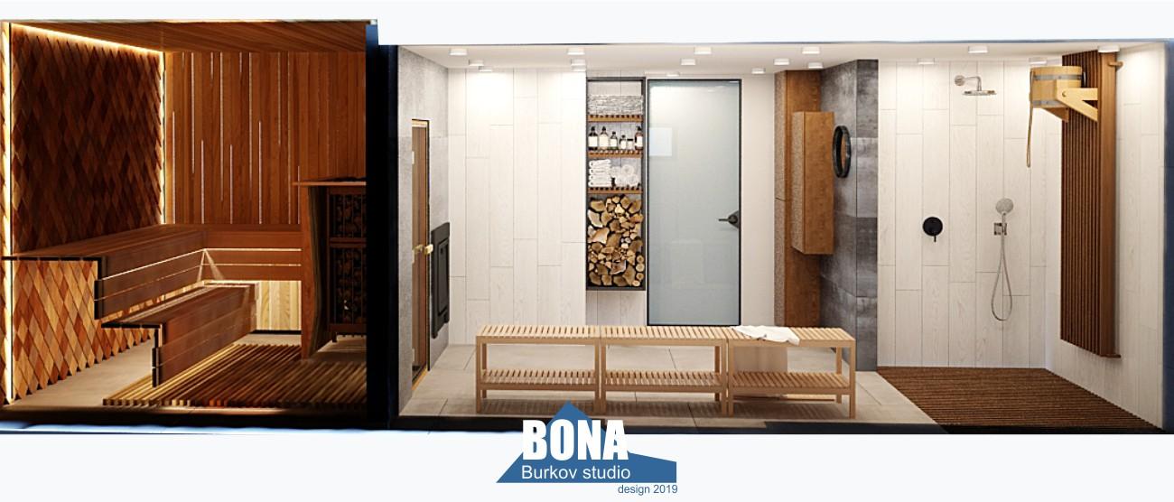 баня в гостевом доме дизайн-проект